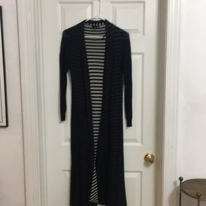 Maxi-length anthro duster